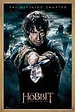 Close Up The Hobbit Poster Die Schlacht der fünf Heere Bilbo (66x96,5 cm) gerahmt in: Rahmen Eiche