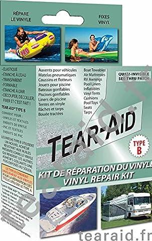Kit de réparation de tissu Tear-Aid Type B pour vinyle et PVC - Instantané, permanent et quasi-invisible