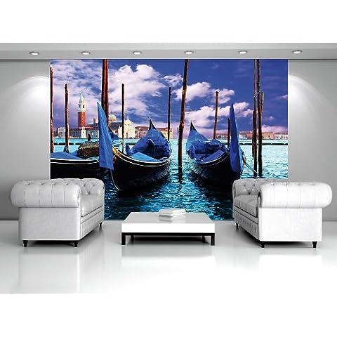 Venecia Góndola Papel pintado fotográfico–Papel pintado fotográfico–cuadro, vellón, M: 1,06 x 0,7 m ? 1 Teilig