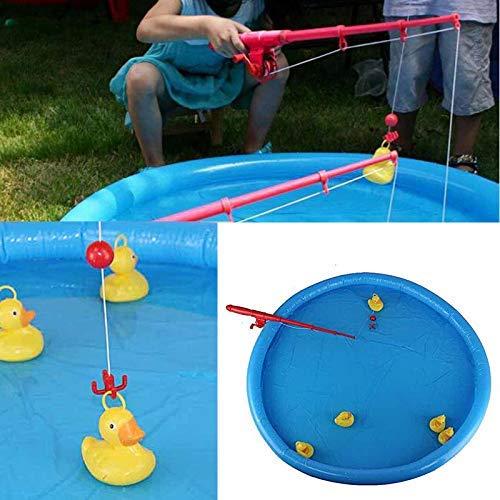 Ente Angeln Spiel Teich Pool mit 5 Entenküken Set Kinder Bildungs Vorschule Spielzeug