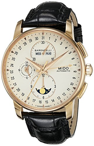 mido-m86073-m142-wristwatch-mens-leather-strap-black