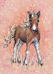 Oopsy Daisy Florence The Foal Canvas Wall Art, Pink, 10