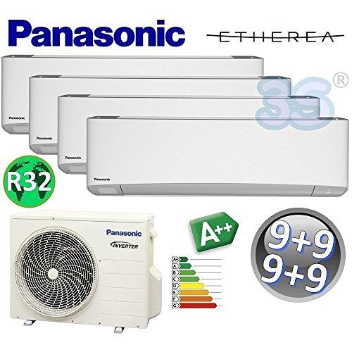 Climatizzatore quadri split ETHEREA R32 Panasonic nuova serie Z - 9000+9000+9000+9000 btu A++