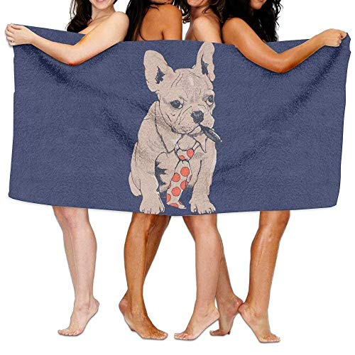fregrthtg Unisex French Bulldog Boss Beach Towels Washcloths Bath Towels for Teen Girls Adults Travel Towel Pool and Gym Use 31x51 inches