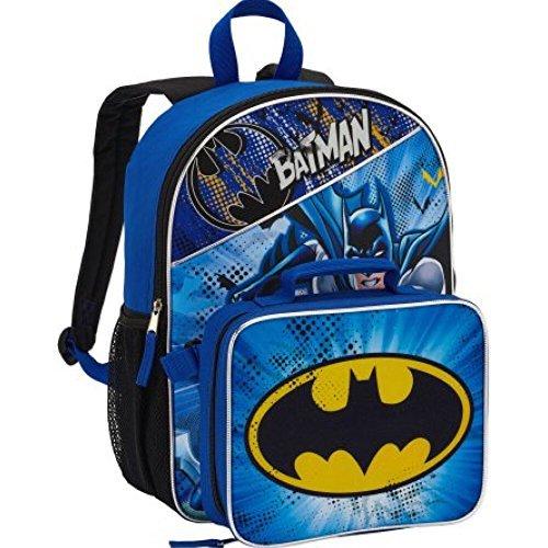 Warner Bros Batman bolsa de mochila y fiambrera para almuerzo bolsa
