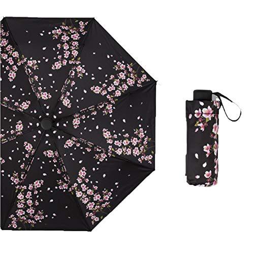 Mini Travel Windproof regenfester Anti-UV-Regenschirm mit fünf Taschen, kompakter Taschenschirm mit Taschenfalten, Kleiner, Leichter wasserdichter Regenschirm, Regen- und Sonnenschirm für Damen, Her