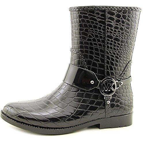 Michael Michael Kors MK Croco Rainbootie Cuir Botte de Pluie Black