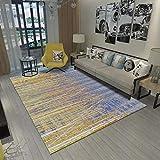 DAMENGXIANG Nordic Einfache Abstrakte Linie Lila Druck Teppich Für Wohnzimmer Couchtisch Schlafzimmer Matte Rutschfeste Bodenmatte Wohnkultur 40 × 60 cm