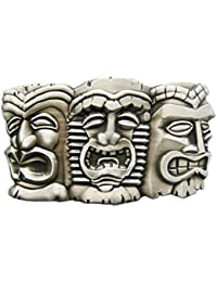 d55f57dfe51f70 Schnalle123 Gürtelschnalle Tiki Maske Hawaii 3D Optik für Wechselgürtel  Gürtel Schnalle Buckle Modell 115