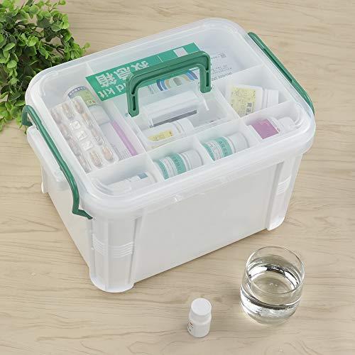 51 SYb6B5iL - Dynko Botiquín de Primeros Auxilios, Caja de Almacenaje, Plástico Caja Para Botiquin