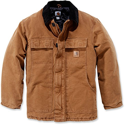 Carhartt Mens Sandstone Traditional Insulated Duck Shell Jacket Coat Duck Traditional Jacket