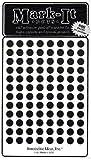 Map Dot Stickers - 1/4 Diameter - Black