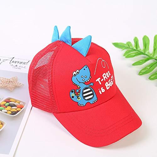 mlpnko Kinderbaseballmütze Boy Atmungsaktive Mütze Babymütze Mütze Sonnenhut Rot Einheitsgröße