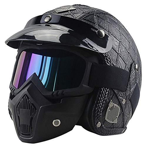 MQW Knopfmütze entlang der taktischen Maskensturzhelm des cs-Armeefächers/schwarzbrauner halber Sturzhelm/Karierter Retro- Motorradkreuzfahrtsturzhelm Schöne Persönlichkeit (Kinder-fußball-helm-braun)