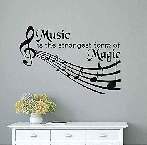 Kreativ Wandaufkleber Musik Ist Die Stärkste Form Von Magischen Wandtattoos. Abnehmbare Diy Dekoration Pvc Wandaufkleber Musiktheater Schlafzimmer Art87X58Cm