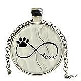 Infinity Symbol Halskette Anhänger mit Bild Hundepfote mit Foto Anhänger Damen Schmuck Statement Halskette