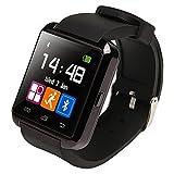 Ruichenxi  U8 Bluetooth 4.0 Smart Watch Podomètre Smartwatch Connectée Bluetooth Montre Intelligente Ecran Tacticle pour iPhone et Android Smartphone (Noir)