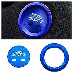 Emblem Trading Start Stop Ring Abdeckung Alu Blau Blende Rahmen Passend Für Astra Insignia Mokka X Crossland X Grandland X