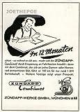 1953 - Anzeige / Inserat : ZÜNDAPP COMBIMOT ZUSATZMOTOR FÜR FAHRRÄDER/ 100 KM FÜR 1 DM BETRIEBSSTOFF - Format 90x110 mm - alte Werbung / Originalwerbung/ Printwerbung