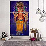 Rudxa Hindu God Canvas Painting Elephant Canvas Wall Art Posters Picture Living Room Decorative Paintings-50x70cmx3 pcs no frame
