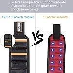 Rovtop-Polsiera-magnetica-con-15-Magneti-Robusti-Braccialetto-Magnetico-salva-le-mani-fissa-facilmente-viti-chiodi-punte-da-trapano-ecc-Adatto-per-uomini-e-donne-attrezzi-e-regali-fai-da-te