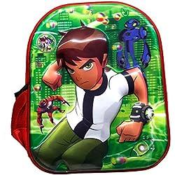 Batu Lee 5D Ben 10 13 inch Red Waterproof Children's Backpack (Pre School)