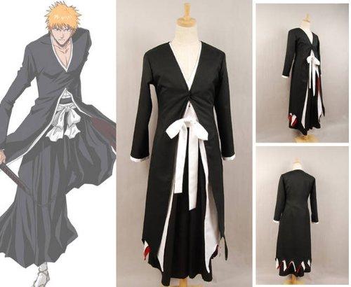 Cosplay Kostüme, Bleach Ichigo Kurosaki Bankai Formular Cosplay,Größe (Bankai Kostüm Ichigo)