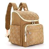 LCY Unisex Stilvolle Multifunktions Rucksack Baby Wickeltasche, Rucksack mit kinderwagenhalter & Wickelunterlage