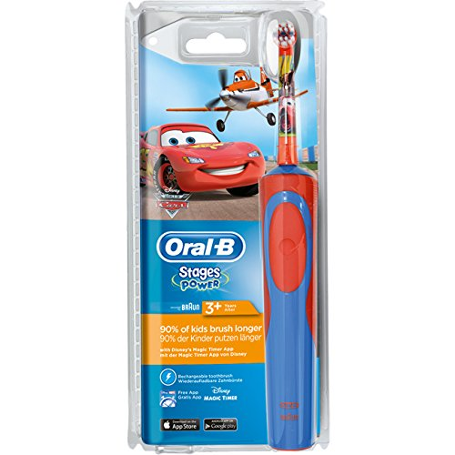 SPAR-SET: 1 Braun Oral-B Stages Power Kids 900 TX elektrische Akku-Zahnbuerste Kinder 3+ J. D12.513.K Disney Pixar Cars & Planes + 2er Stages Aufsteckbürsten + 75 ml Oral-B PRO-EXPERT Stages Kinderzahncreme CARS