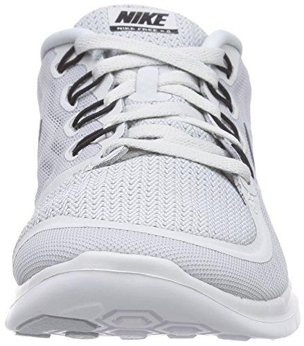 Nike Free 5.0  Damen Laufschuhe Mehrfabig (Pure Platinum/Black-Wolf Grey-Cool Grey)