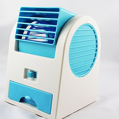 Shopizone® Mini Cooler Desktop Tabletop Portable USB Air Cooling Fan