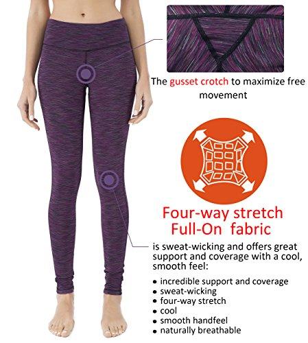 Queenie Ke Femme Legging de Sport Pantalon pour Course Yoga Pilate Gymnase Violet