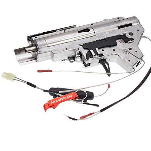 APS Metal 8mm Cojinete Gearbox Completo Cableado Trasero para APS M4 Ver 2  Gearbox Airsoft AEG (Plata) - AirsoftGoGo Llavero Incluido