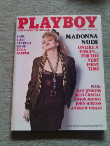 US Playboy Magazin September 1985 Zeitschrift Original Ausgabe USA 9/1985 Venice Kong Madonna, Brigitte Nielsen, last stapled centerfold John Huston Billy Crystal - Madonna Sex