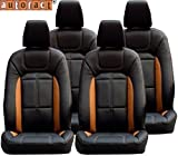 #7: Autofact AF02 Art Leather Car Seat Covers Tata Nano (Black / Tan)