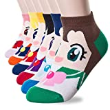 Happytree Calzini da donna 3 – 6 confezione, Fun Cool gatti cani Cartoon Sweet Animal design Good for idea regalo taglia unica Sailor Moon 6 Pairs Taglia unica