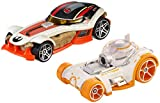 Mattel Hot Wheels djm02 Spielfahrzeug – Spielzeug-Fahrzeuge (Mehrfarbig, Vehicle Set, Star Wars, 3 Jahr (E), BB-& Poe Dameron, China)