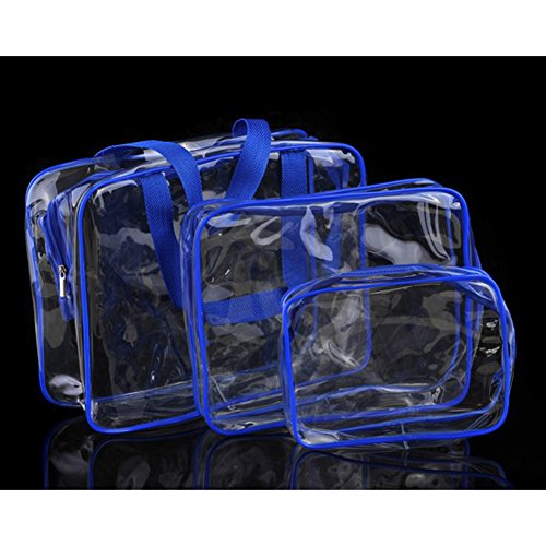 Estee Lauder Tasche (Thinkmax Kosmetiktasche Damen PVC Transparent Tasche Travel Bags Make Up der persönlichen Hygiene Make-up-Organizer Fall 3)