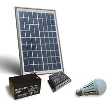Kit de iluminación solar LED 20W 12V para interior Fotovoltaica off grid