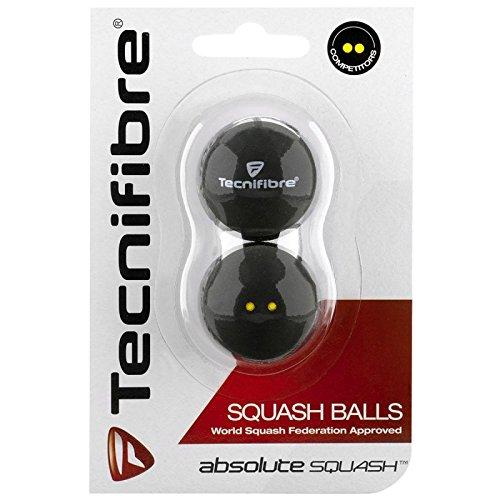 Tecnifibre Balle de Squash 2 points jaunes X2