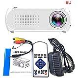 Multimedia Tragbar Full HD 1080P Beamer | YG320 USB HDMI AV VGA SD Mini Beweglicher LED Projektor | Mini Video Beamer ideal für Heimkino, Filme, Unterhaltungs-Spiele | 24-80 Zoll (Weiß)