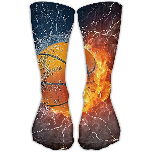 Mabell Basketball Fire Lighting Water Fashion Novelty High Athletic Sock Outdoor Gift -