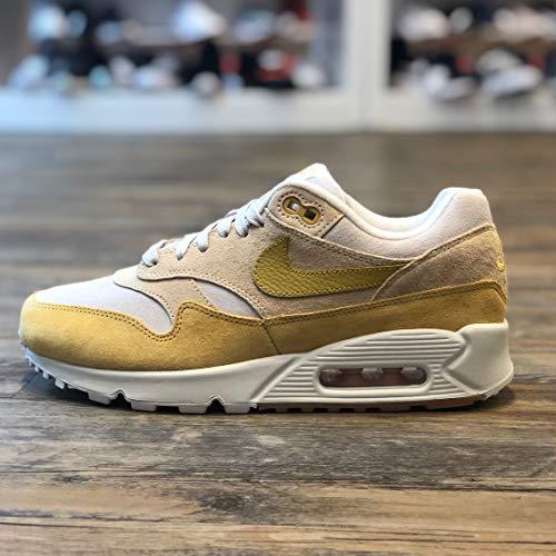 Nike Damen W Air Max 90/1 Sneakers Mehrfarbig (Guava Ice/Wheat Gold/Summit White 001) 39 EU
