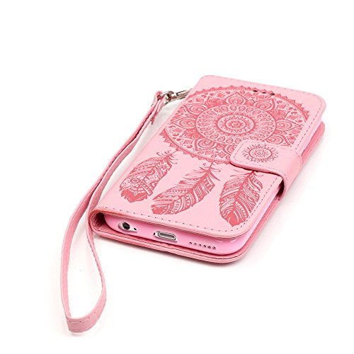 Nutbro iPhone 6S Case, iPhone 6 Case Wallet,Premium PU Leather Flip Folio Carrying Magnetic Closure Protective Shell Wallet Case Cover for iPhone 6 / 6S (4.7) with Kickstand Stand Pink