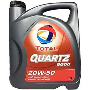 TOTAL quartz 5000 20W - 50 huile moteur-motif oldtimer en bidon 4 l