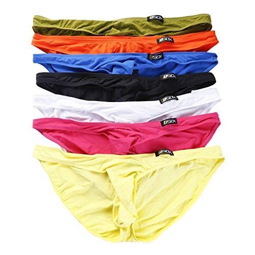 Herren Slips Unterwäsche Low Rise Bikini Short Triangle Unterhose 7er Pack (XL, Mehrfarbig) (Sheer Unterwäsche Herren)