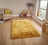 Think Rugs handgetufteter, schwerer Hochflor-Teppich »Montana«, gelb, 150 x 230 Cm