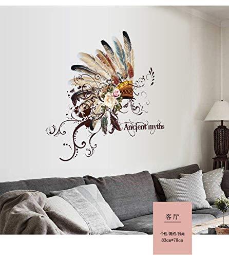 Kreative Blumen Wohnzimmer Sofa Schreibtisch Hintergrund Dekoration Abnehmbare Vinyl Wandaufkleber Feature National Chief Cap Home Bebe Cap