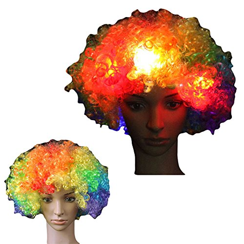 alkyoneus Afro Big Hair Unisex Blinklicht Full Perücke -