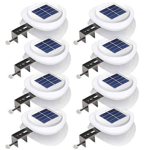Solarleuchte für Außen, UFO\' 9LEDs Solarlampen, Lichtsensor-ON/OFF,Wasserdicht Sicherheitswandleuchte für Garten, Hof,Veranda, Flur, Kaltweiße Licht